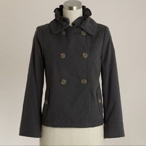 J. CREW Washed Ruffle Collar Trench Size 0